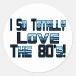 Love The 80's Sticker
