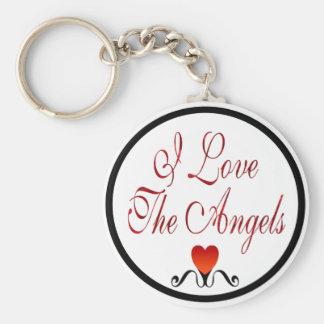 Love The Angels Basic Round Button Keychain