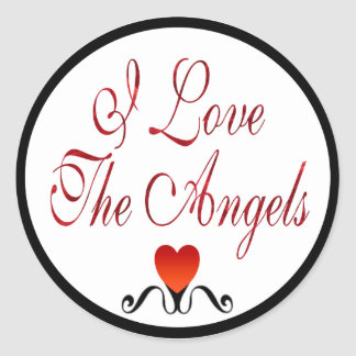 Love The Angels Classic Round Sticker