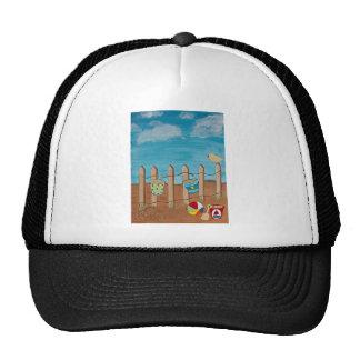 Love the Beach-Hand painting Mesh Hats