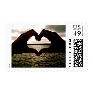 Love the Beach: Sunrise & Sunset Postage