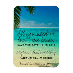Love & The Beach Wedding Save Date Magnets at Zazzle