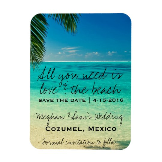 Love The Beach Wedding Save Date Magnets – Beach Wedding Save the Date Magnets