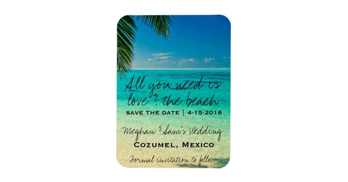 love the beach wedding save date magnets zazzle com