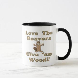 Love The Beavers Give Em Wood Mug