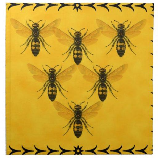 Love the Bug: Yellow Jacket Squadron Printed Napkins