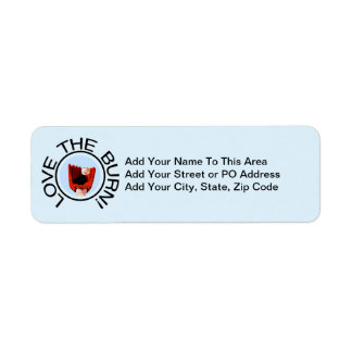 Love the Burn Baseball T-shirts and Gifts Return Address Label