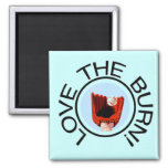 Love the Burn Baseball T-shirts and Gifts Refrigerator Magnets
