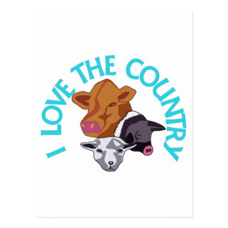 Love the Country Postcard