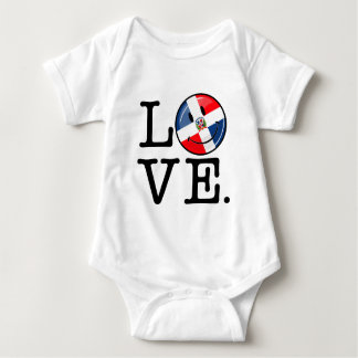 Love the Dominican Republic Smiling Flag Baby Bodysuit