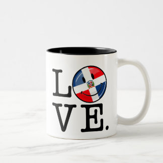 Love the Dominican Republic Smiling Flag Two-Tone Coffee Mug