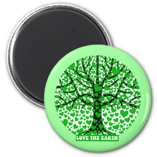love the earth 2 inch round magnet