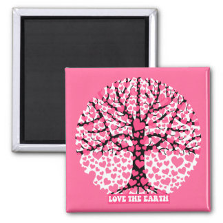 love the earth 2 inch square magnet