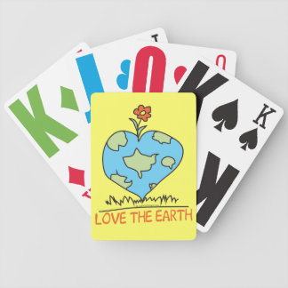 Love the Earth Bicycle Playing Cards