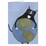 Love The Earth Cat Card