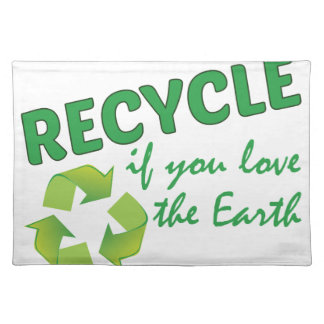 Love The Earth Cloth Placemat