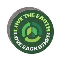 Love the Earth Environmental Awareness Green Car Magnet