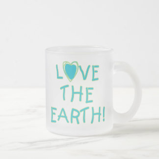 Love the Earth Environmental Frosted Glass Mug