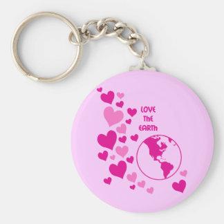 love the earth keychain