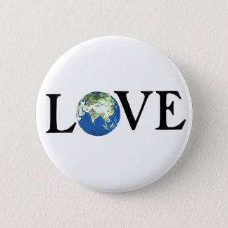 LOVE THE EARTH PINBACK BUTTON