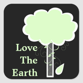 Love The Earth Square Sticker