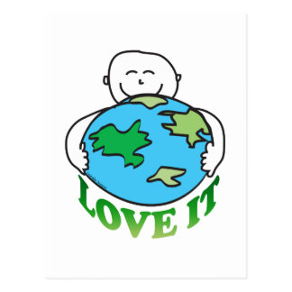 Love the Earth Tees and Gifts Postcard