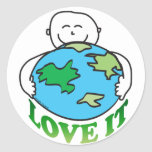 Love the Earth Tees and Gifts Round Stickers