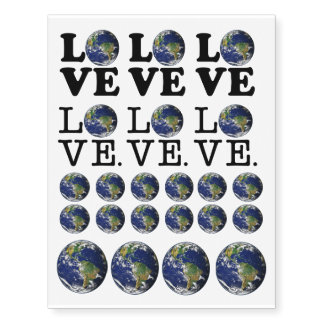 Love The Earth Temporary Tattoos