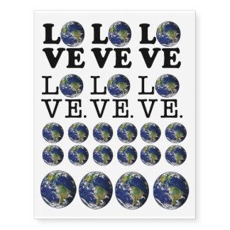 Love The Earth Temporary Tattoos