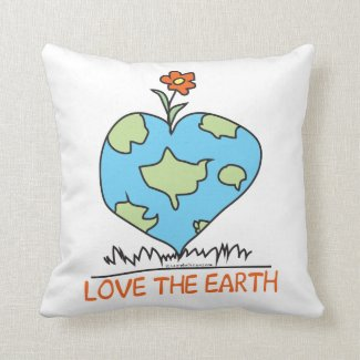 Love the Earth Throw Pillow
