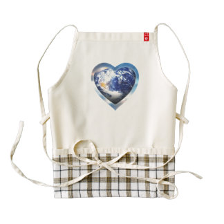 love the earth zazzle HEART apron