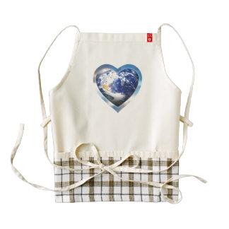 love the earth zazzle HEART apron