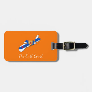 Love The East Coast Heart N.S. luggage tag orange