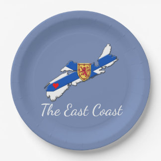Love The East Coast  Heart N.S  plate