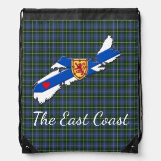 Love The East Coast Heart N.S. tartan bag