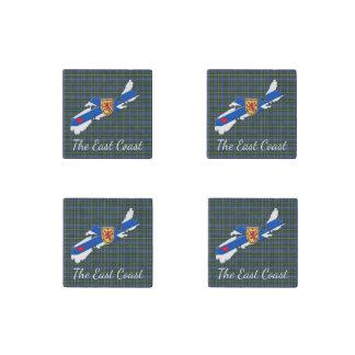 Love The East Coast  Heart N.S Tartan magnets