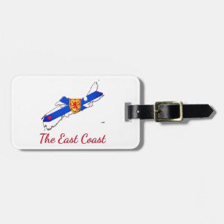 Love The East Coast  Nova Scotia luggage tag