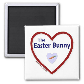 Love The Easter Bunny 2 Inch Square Magnet