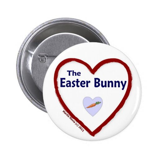 Love The Easter Bunny Pinback Button