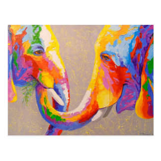 Love the elephants postcard