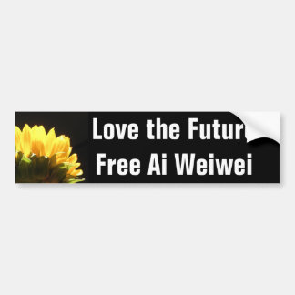 """""""Love the Future - Free Ai Weiwei"""" Bumperstickers Bumper Sticker"""
