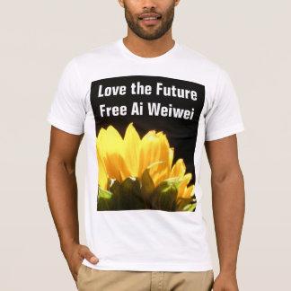 """Love the Future - Free Ai Weiwei"" Sunflower Shirt"