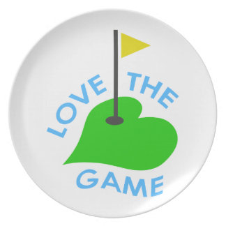 Love The Game Plate