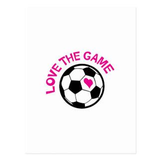 Love The Game Postcard