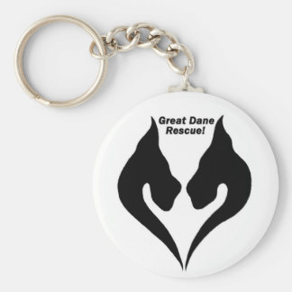 Love the Great Dane rescue! Basic Round Button Keychain
