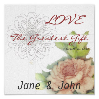 Love The Greatest Gift Poster-Customize