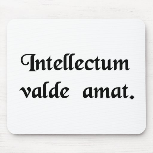 Love the intellect strongly. mouse pad