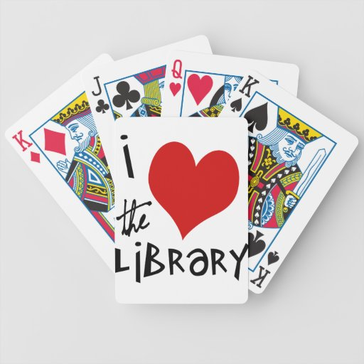 Love the Library Bicycle Playing Cards