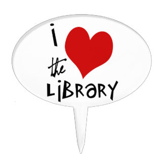 Love the Library Cake Topper