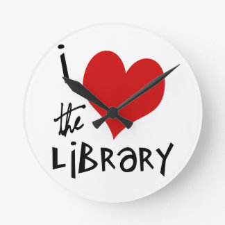 Love the Library Round Wall Clocks